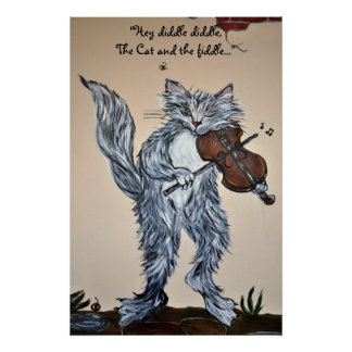 """Hey, Diddle Diddle, the Cat and the Fiddle"" Poster"