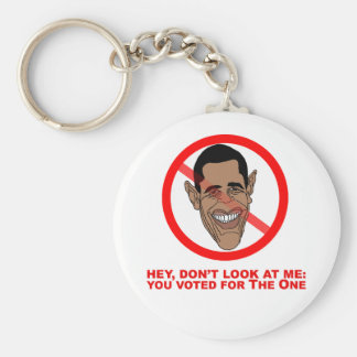 Hey, don't look at me: you voted for The One Basic Round Button Keychain
