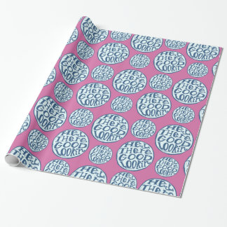 Hey Good Lookin Flirty Purple Blue Wrapping Paper