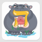 Hey Hebrew Aleph Bet (Alphabet) Hippo Sticker