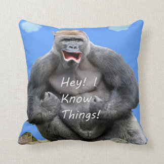 Hey! I Know Things! Throw Pillow