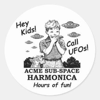 Hey Kids! Call UFOs! Classic Round Sticker