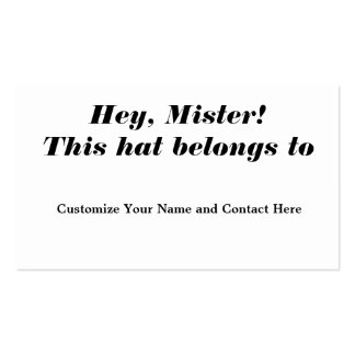 Hey, Mister! Pack Of Standard Business Cards