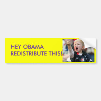 HEY OBAMA REDISTRIBUTE THIS!!!!! BUMPER STICKER