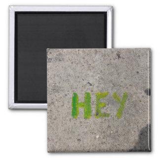 hey on the sidewalk magnet