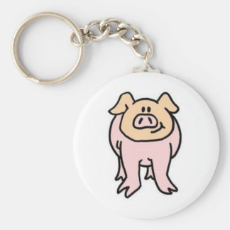 Hey Piggy Piggy Basic Round Button Keychain