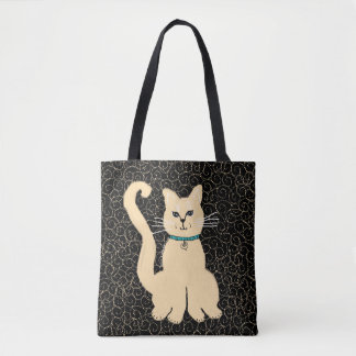 Hey Pretty Kitty Designer  Tote by Julie Everhart