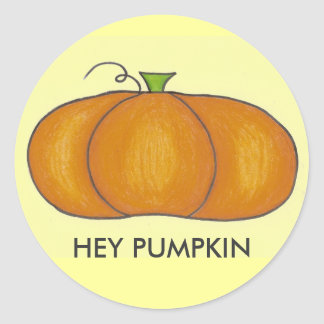 Hey Pumpkin Stickers