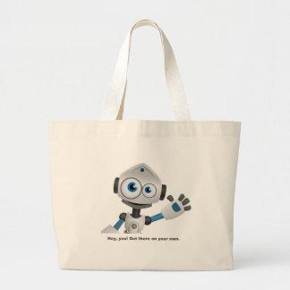 Hey robot you large tote bag