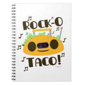 Hey Rock-O Taco Spiral Notebook