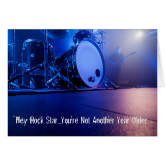 Hey Rock Star Musician Birthday Card