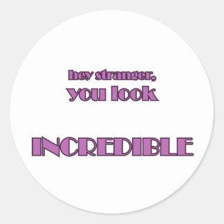 Hey Stranger Classic Round Sticker