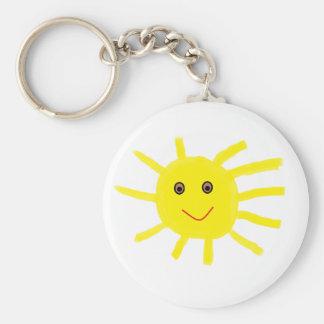 Hey Sunshine Basic Round Button Keychain