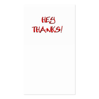 Hey, Thanks! Thank you gifts Business Card Templates