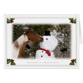 Hey, that's my nose! greeting card