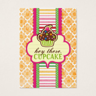 Hey There, Cupcake Chubby Business Cards