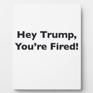 Hey Trump, You're Fired! Plaque