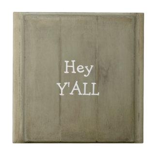 Hey YALL Rustic Wood Tiles