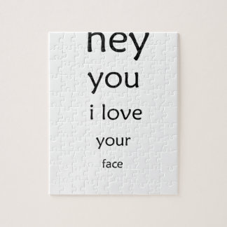hey you i love  your face jigsaw puzzle