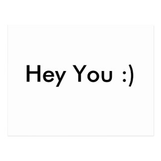 Hey You :) Postcard
