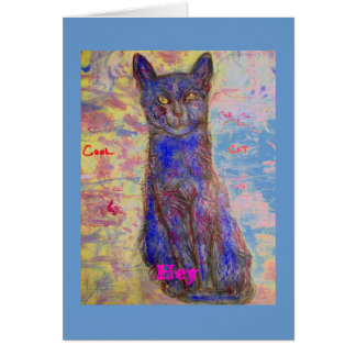 Hey you're one cool cat greeting card