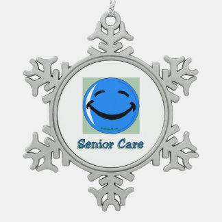 HF Senior Care Snowflake Pewter Christmas Ornament
