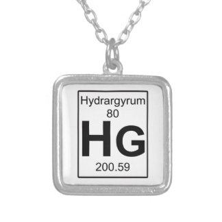Hg - Hydrargyrum Silver Plated Necklace