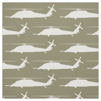 HH-60 Pave Hawk Silhouette Pattern Fabric