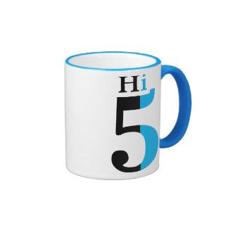Hi 5 mug - blue