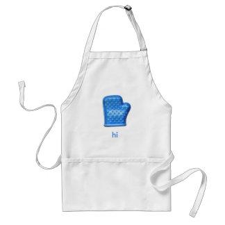 hi Blue Oven Mitt Standard Apron
