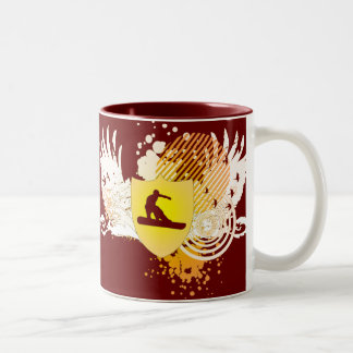 hi-fi snowboard Two-Tone coffee mug