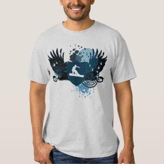 hi-fi snowboarding. traced in blue. shirts