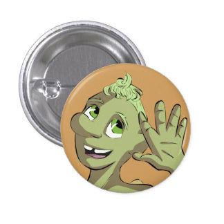 Hi from Bud Mushroom 1 Inch Round Button
