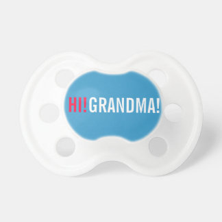 Hi Grandma Pregnancy Announcement - Blue Pacifier