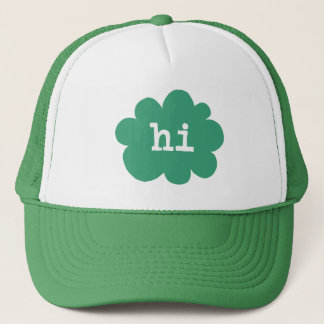 Hi - Green (Hi Hello Greetings) Trucker Hat