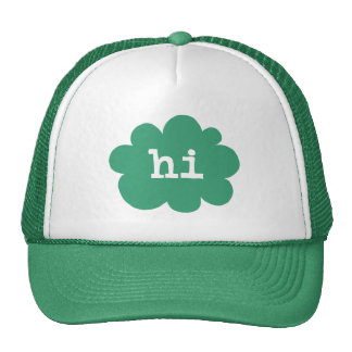 Hi - Green (Hi Hello Greetings) Trucker Hat