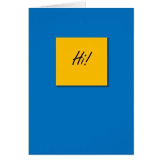 """""""Hi"""" Greeting Card"""