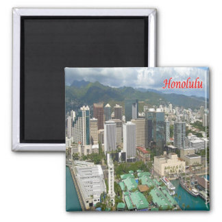 HI - Hawaii - Honolulu - Panorama Magnet