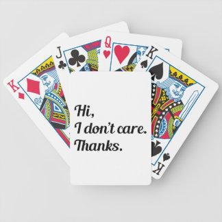 Hi I Don't Care Poker Deck