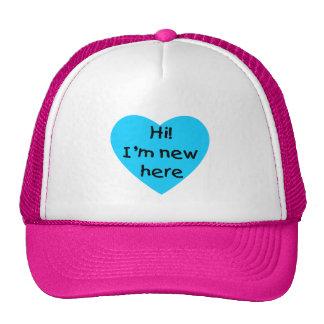 Hi! I'm new here (blue) Hats
