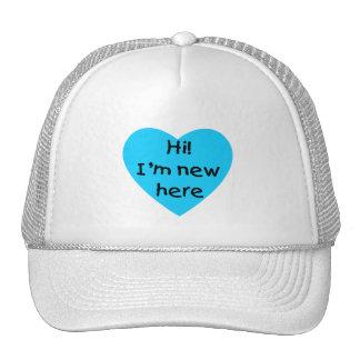 Hi! I'm new here (blue) Mesh Hat