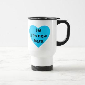 Hi! I'm new here (blue) Coffee Mug