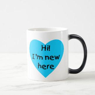 Hi! I'm new here (blue) Mug
