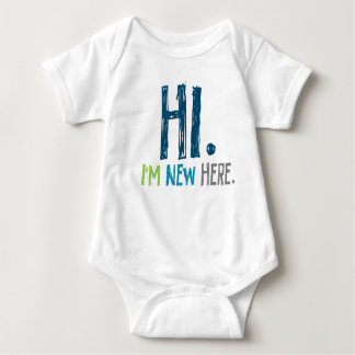 Hi. Im New Here (boy) Baby Bodysuit