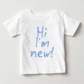 Hi Im New! in Baby Blue Shirt