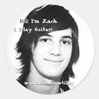 Hi! I'm Zach Round Sticker