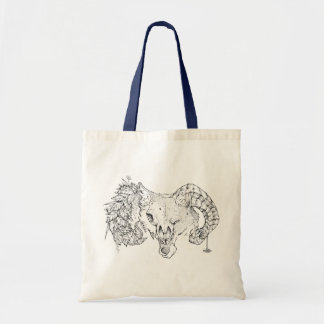 hi ji wolf sheepwolf tote bag