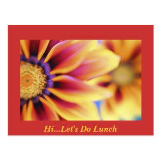 Hi...Let's Do Lunch Postcard