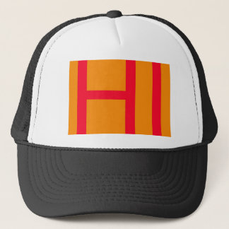 Hi, may mean hello, or HI as in Initials of Hawaii Trucker Hat