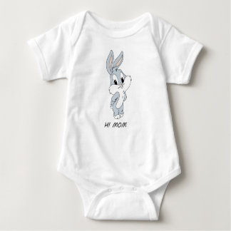 HI MOM RABBIT BABY BODYSUIT
